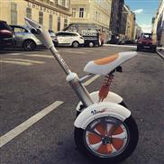 the scooter with one wheel