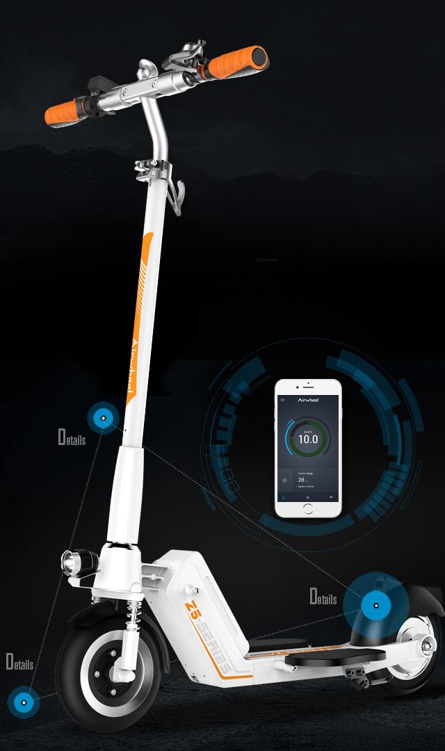 Airwheel z5 lead the razor foldable electric scooter for for Motorized razor scooter for adults
