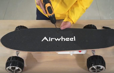 The steps to replace the board of Airwheel M3 electric drift hover board